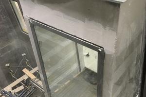 In jedem der Obergeschosse sollte eine so genannte Kommunikationsbox entstehen, die auf einem Stahlbetonboden in den Lichthof auskragt