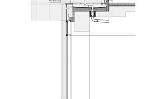 Fassadenschnitt, Maßstab 1:50