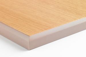 Die Platten lassen sich mit einem patentierten 3D-Furnier aus Holz beschichten
