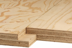 Brüninghoff lagert Kerto LVL ein: Kurzfristig erhältlich sind derzeit Platten in 1,20 mal 13 Meter mit Stufenfalz – in den Stärken 39, 51 und 69 Millimeter.<br />