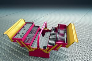 """Der Gerüstbaukasten """"Peri Up"""" hat die Bauweisen des Rahmen- und des Modulgerüstes zu einem einzigen, miteinander kompatiblen System vereint"""