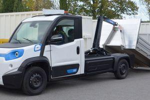 """In Zusammenarbeit mit spezialisierten Aufbau-Herstellern kann der neue """"Goupil G6"""" – hier in der Ausstattungsversion als Abrollkipper von Dalby – auf verschiedene Einsatzbereiche zugeschnitten werden"""