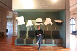 Thomas Wieckhorst, Chefredakteur der bauhandwerk, im Museum im Hambacher Schloss bei Neustadt an der Weinstraße<br />Kontakt: 05241/801040, thomas.wieckhorst@bauverlag.de