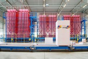 """Blick in das Werk der Austrotherm Dämmstoffe GmbH im brandenburgischen Wittenberge. Der Hersteller von XPS-Dämmstoffen verzeichnet derzeit eine sehr hohe Nachfrage und steigende Preise für Rohstoffe und Vorprodukte<span class=""""bildnachweis"""">Foto: Austrotherm</span>"""