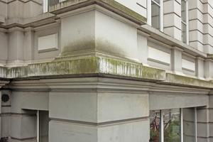 Die Stuckfassade an einem Mehrfamilienhaus in Hannover zeigte starke Witterungsschäden