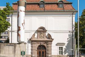 """Für die Fassadenrenovierung der im Jahr 1914 am Standort Innrain in Innsbruck erstmals eröffneten Hauptbibliothek kam die Sol-Silikatfarbe """"Ultrasil HP 1901"""" zur Anwendung"""