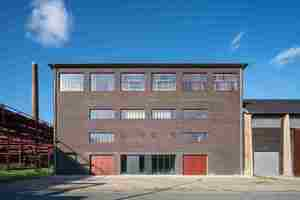 Die denkmalgeschützte Salzfabrik auf dem Gelände der Zeche Zollverein wurde energetisch saniert.