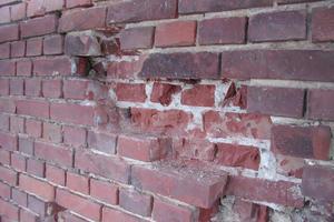Das Mauerwerk wies starke Schäden auf