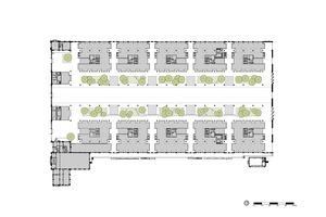 Grundriss Erdgeschoss, Maßstab 1:1500