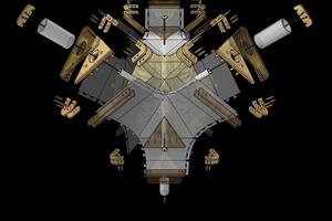 Die komplex aufgebauten Knotenpunkte der Tragkonstruktion sind so ausgebildet, dass sie dem Kräfteverlauf folgen