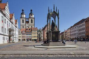 Der Marktplatz von Wittenberg.