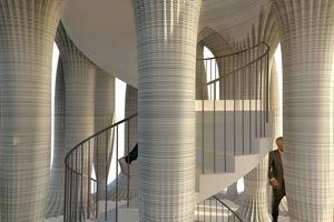 """Der """"Weisse Turm"""" von Mulegns wird ein komplett digital aus Beton gedrucktes Gebäude nach Plänen der Architekten Benjamin Dillenburger und Michael Hansmeyer sein"""