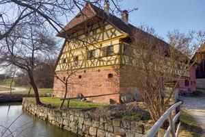 Die Mühle aus Unterschlauersbach in diesem Frühjahr