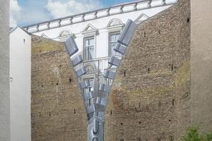 """Der """"Reißverschluss"""" gehört zu den Klassikern und zeigt eine perfekte Illusion an einer Brandwand in Berlin"""