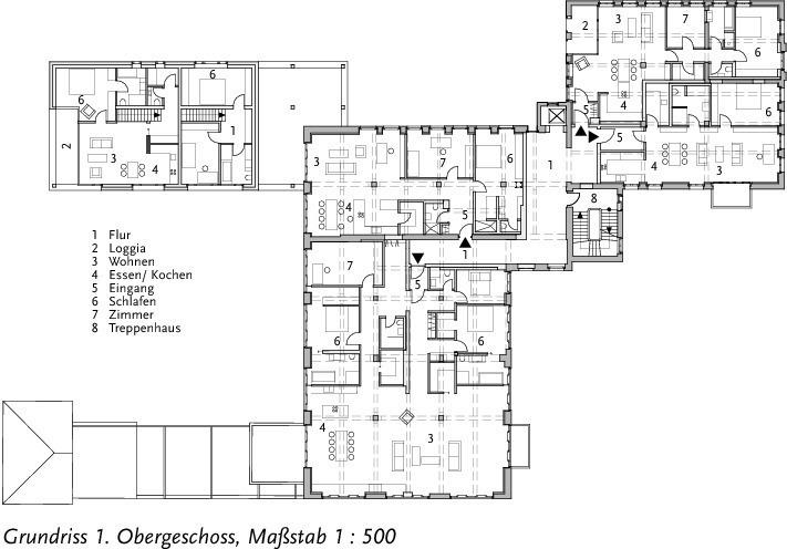 exklusiv umnutzung der alten polizei in g tersloh zu loft wohnungen bauhandwerk. Black Bedroom Furniture Sets. Home Design Ideas