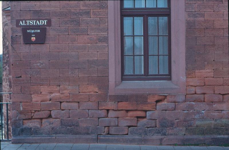 Top Wasser und Salz Typische Bauschäden an Außenwänden aus Mauerwerk JY16