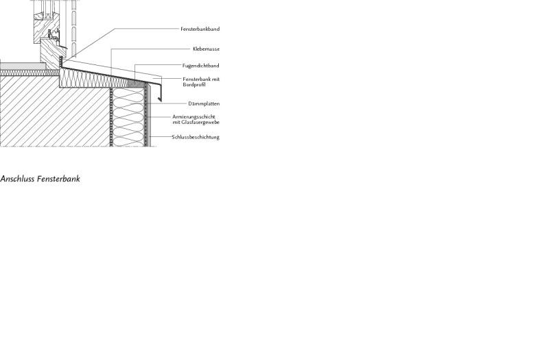 Fensterbank außen detail  Fensterbänke an WDVS-Fassaden - Bauhandwerk