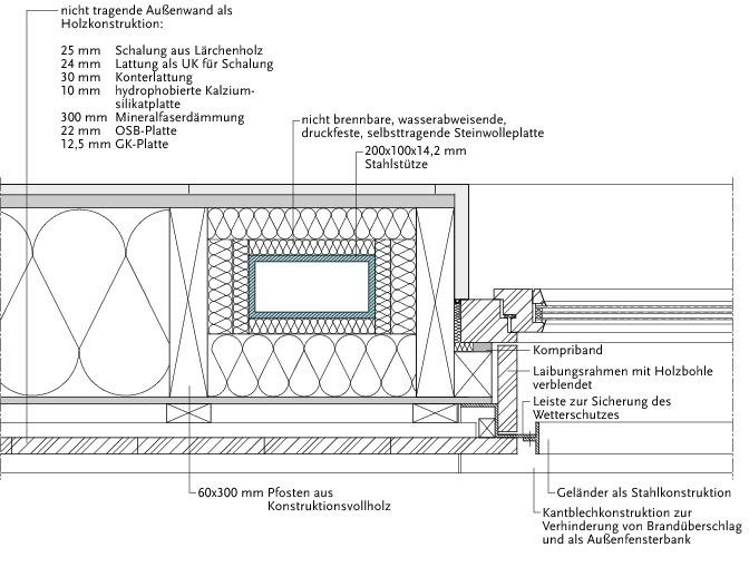 Holzrahmenbau grundriss detail  Feuerfest Hybridbauweise: Siebengeschossiges Wohnhaus in Berlin ...
