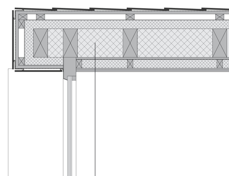 Holzbau flachdach detail  Modernes Holzhaus am Hang - Bauhandwerk
