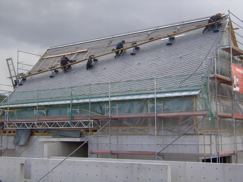 Symbiose aus fachwerk und beton bauhandwerk for Aufbau fachwerkhaus