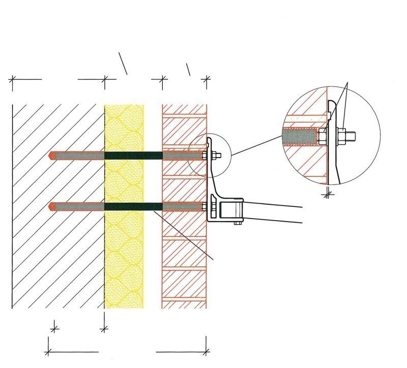 injektion zur befestigung  zweischaligem mauerwerk