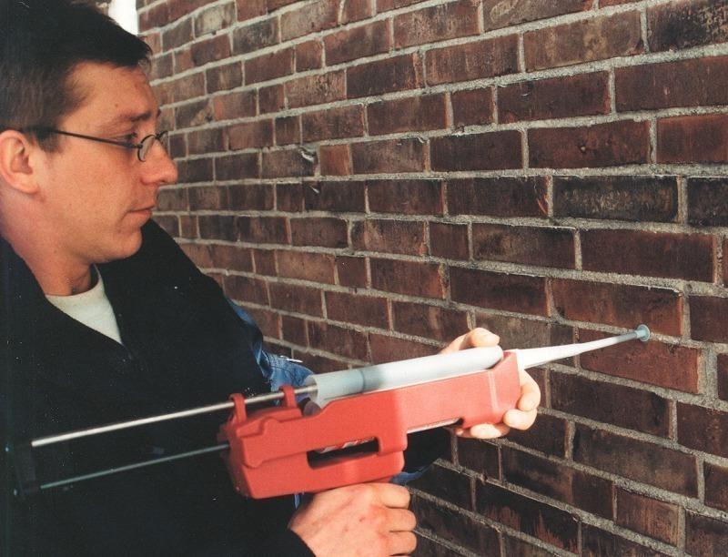 injektion zur befestigung in zweischaligem mauerwerk