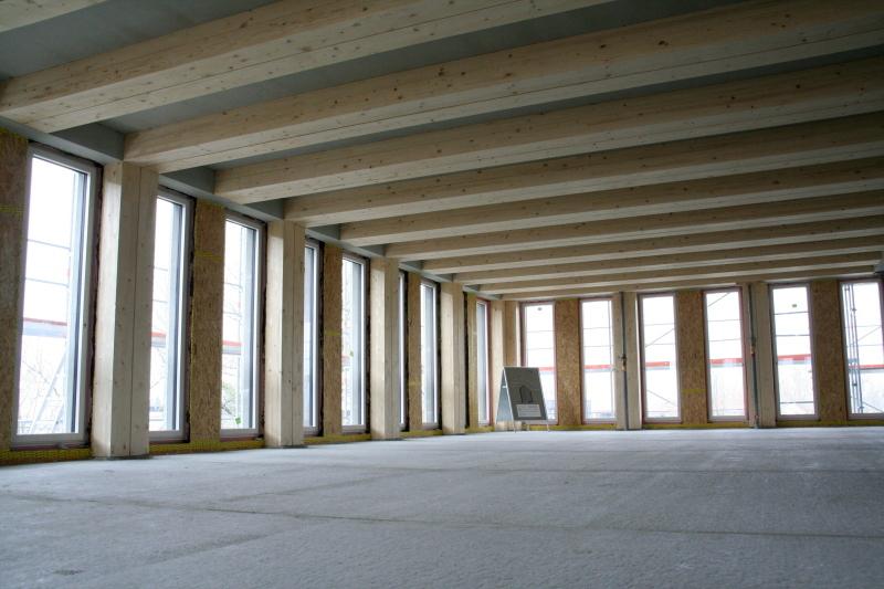 Holzbau detail decke  Mit System-Holzbau hoch hinaus Achgeschossiges Hochhaus in Holz ...