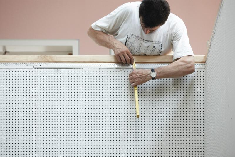 robuste akustik hybrid bauweise aus gipskarton und. Black Bedroom Furniture Sets. Home Design Ideas