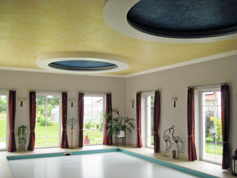 leuchtende decke im schwimmbad in abensberg bauhandwerk. Black Bedroom Furniture Sets. Home Design Ideas