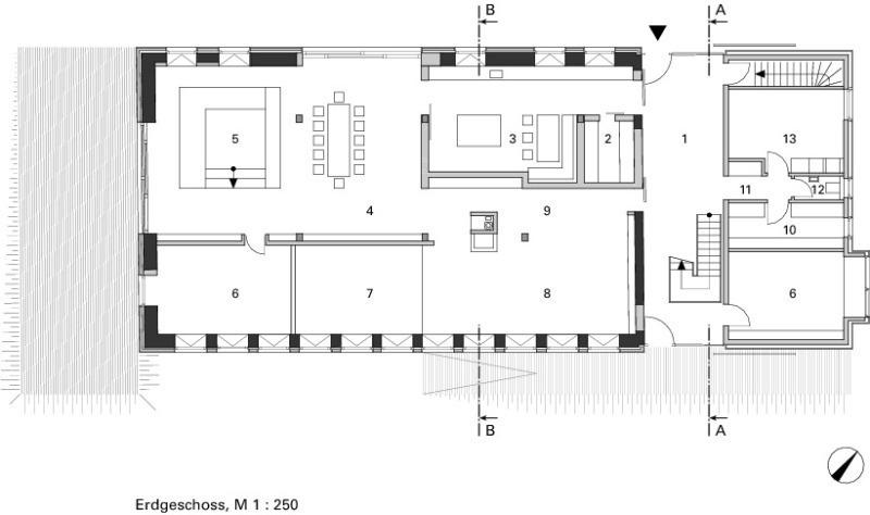 Wohnen In Der Betonskulptur Wohnhausneubau In Einer Historischen