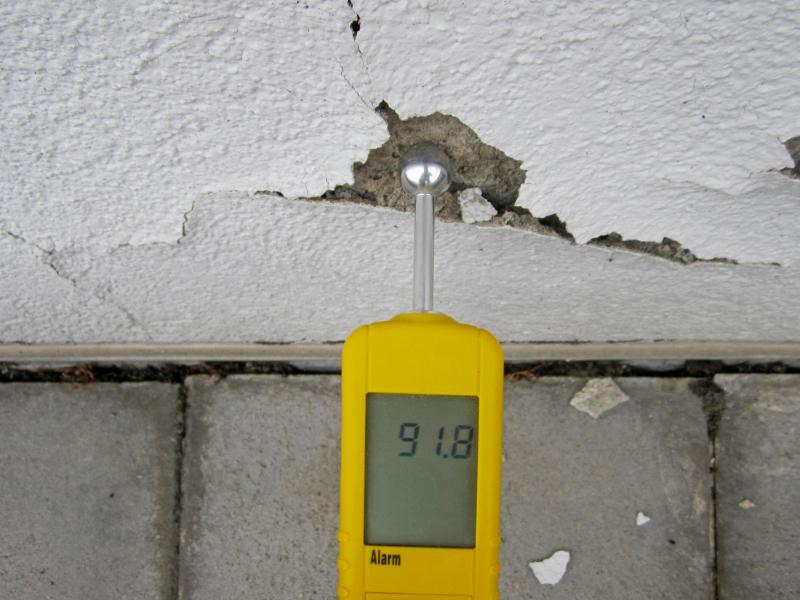 Gut gemocht Feuchte Außenwand und Schimmel - Bauhandwerk BA97