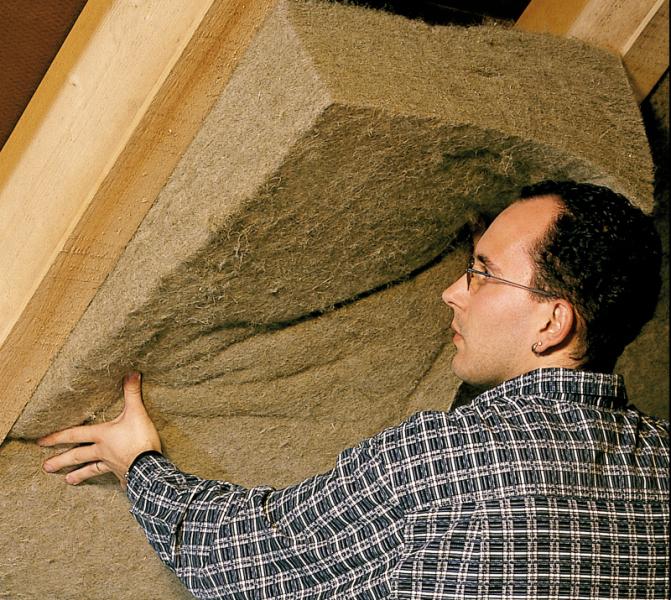 nat rlich d mmen teil 1 holzfaser hobelsp ne zellulose hanf stroh bauhandwerk. Black Bedroom Furniture Sets. Home Design Ideas