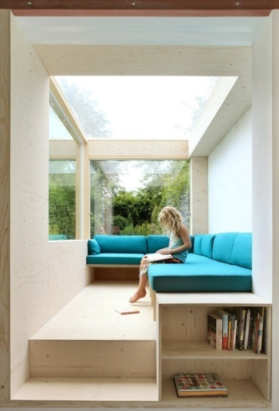 Wohnzimmer Im Garten Minimale Erweiterung Einer Doppelhaushälfte Aus