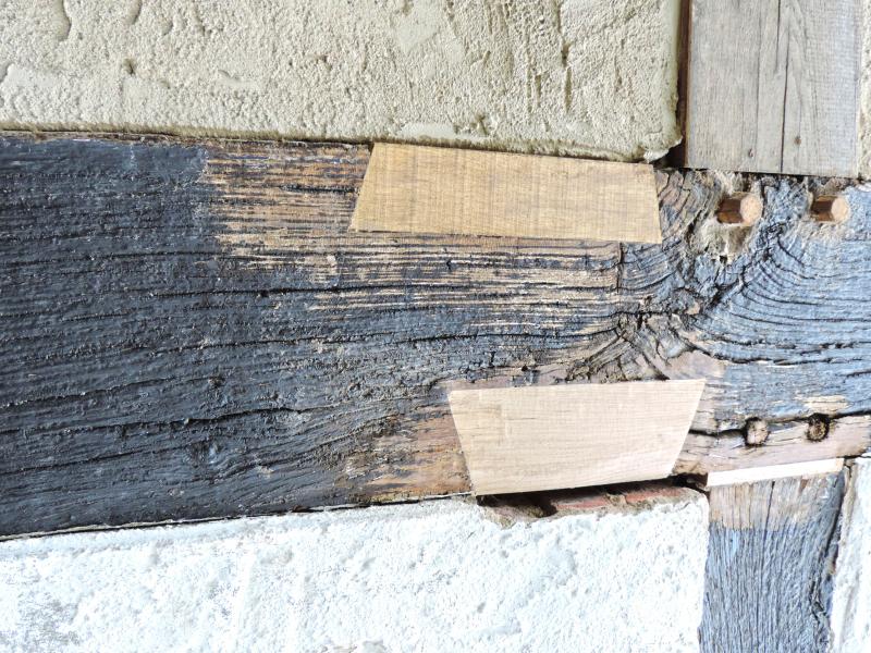 Kellenschnitt Zwischen Holz Und Ausmauerung