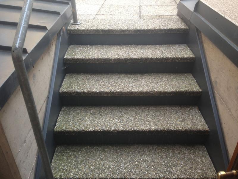 Waschbetonplatten treppenstufen