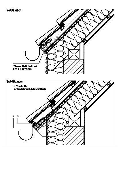 Traufbohle  Korrekte obere Anschlüsse von WDVS - Bauhandwerk