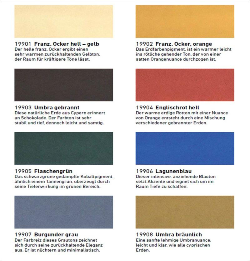 Natürliche Wandfarben wandfarbe aus reinen pigmenten bauhandwerk