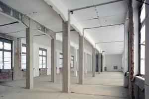 Nach den Rückbauarbeiten liegt die ursprüngliche Struktur der Geschosse frei