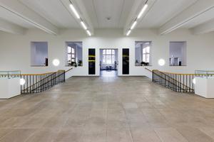 Treppenaufgang im ersten Obergeschoss nach Abschluss der Sanierungs- und Umbauarbeiten<br />Foto: Steffen Junghans
