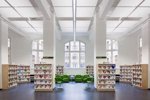 In der modernisierten Leipziger Stadtbibliothek erwartet den Besucher ein Ort zeitgemäßer Wissensvermittlung