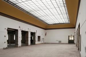 Der Oberlichtsaal im zweiten Obergeschoss zu Beginn der Umbauarbeiten<br />Fotos (6): Andrea Seppi