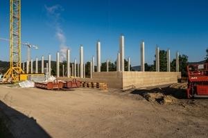 Das Tragwerk der Kräuterhalle wurde in Laufen in Stahlbetonbauweise hergestellt<br />
