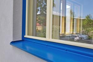 "Detail der Fensterverblechung am Haus Sparmberg<span class=""bildnachweis"">Fotos: Roland Rossner / Deutsche Stiftung Denkmalschutz</span>"