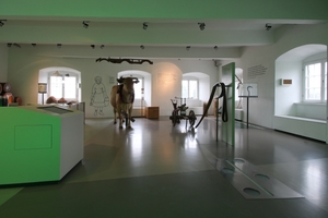 """In der Ebene """"Landschaft"""" wird unter anderem das Zusammenleben von Mensch und Tier in der Eifel dargestellt"""