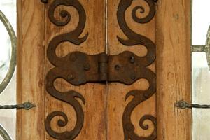 Interessantes handwerkliches Detail in der Gutskapelle Lüneburg: die geschmiedeten Bänder<br />