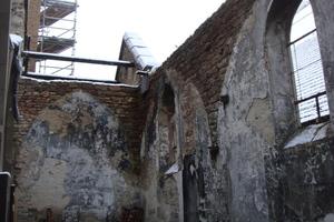 Die Gerstheim Catholic Church vor Beginn der Sanierungs- und Umbauarbeiten<br />