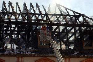 Das traurige Ergebnis, das das Feuer in Weimar hinterlassen hat<br />Foto: Maik Schuck