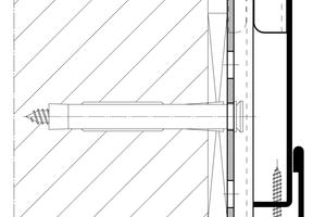 Links: Herkömmliche verstellbare Stahlzarge mit Umbug und Schraubmontage