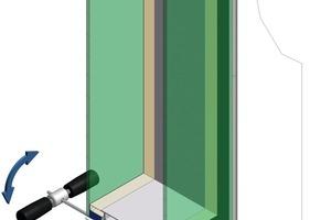 Spezialwerkzeug für den Einbau der Glas-module in eine Trockenbauwand<br /><br />