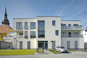 """Eine einstige Brachfläche wurde in Markranstädt durch den Neubau attraktiv aufgewertet<span class=""""bildnachweis"""">Foto: Christian Günther / Sto</span>"""